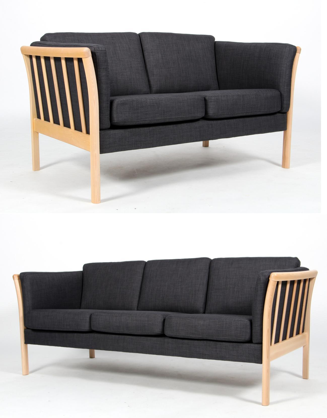 Picture of: Dansk Design Tremme Sofaer 2 3 Pers I Lakeret Bog 2 Lauritz Com