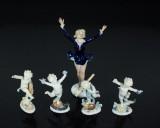 Figuriner, 5 st, porslin, Ilmenau & Wallendorf, Tyskland