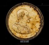 Porträtt av påven Leo XIII, pergament, 1800-talets senare del