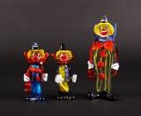 Murano glas, tre figurer i form af klovne (3)