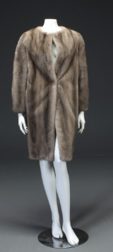Day Birger et Mikkelsen. Silver-blue mink coat, size approx. 36-38