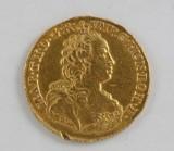 22kt Maria Theresa round token from 1750 Australian Netherlands