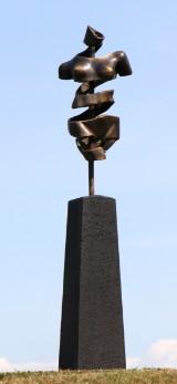 Pierre Martin. Bronzeskulptur, New Turning Torso, 'Female', H. ca. 124 cm.