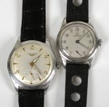 Omega samt Longines, armbandsur, 2 st