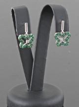 Emerald earrings in sterling silver (2)