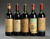 5 fl. Bordeaux Grand Cru Classè rødvin i årgange fra 1981-89 (5)