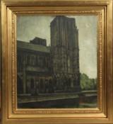 Svend Hammershøi, olie på lærred, Wells Cathedral