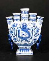 Tulpanvas i blåvitt porslin, 1900/2000-tal
