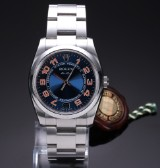 Rolex 'Air-King'. Men's watch, steel with two-tone dial - box + certifcate 2008