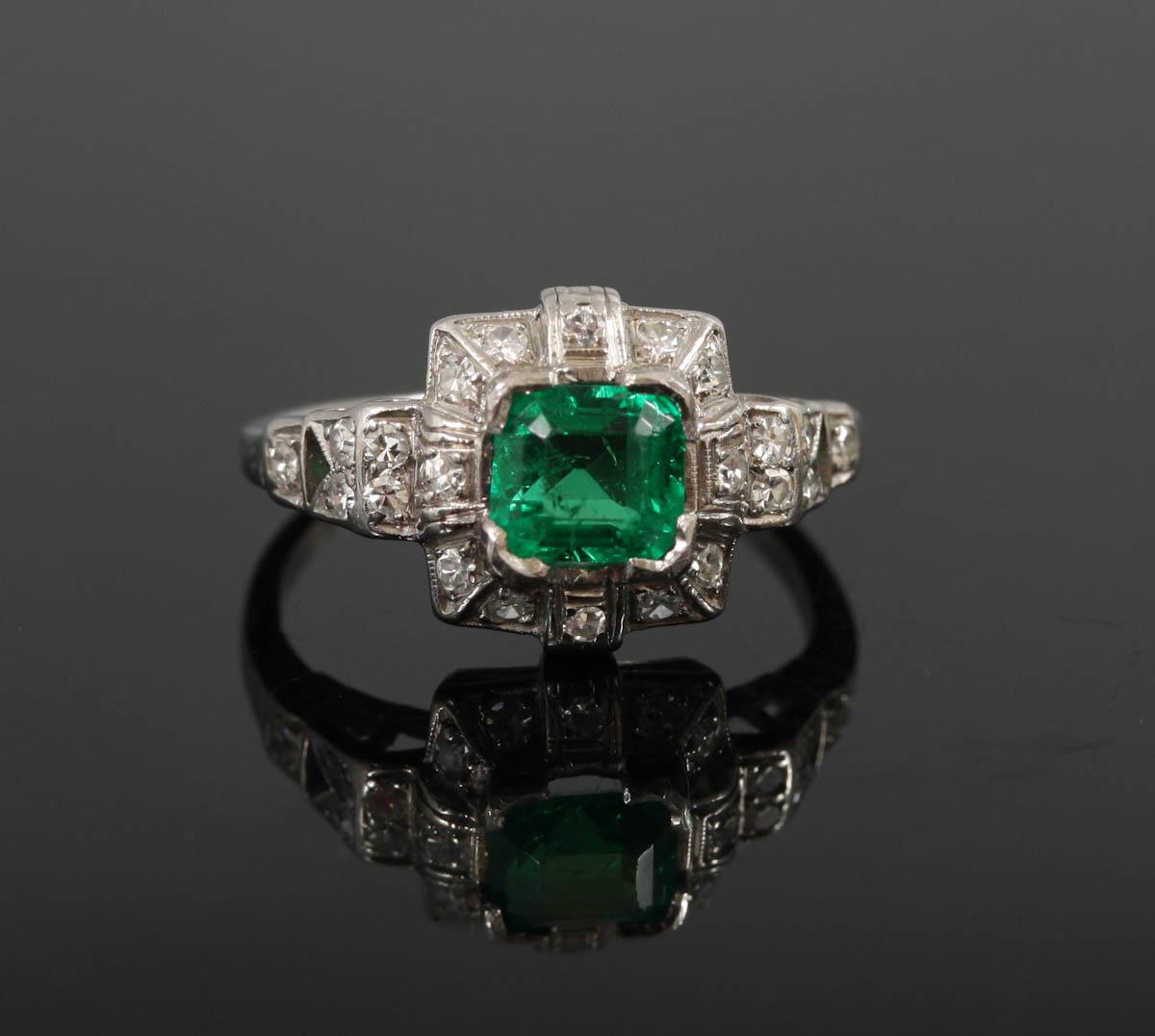 platina ring med diamant