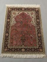 Herike, signed, silk on silk, Anatolia. 140 x 95 cm