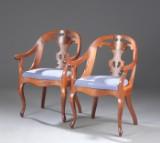 Et par armstole af mahogni i svensk stil. 1900´tallets midte(2)