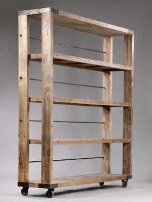 nordal b cherregal auf rollen. Black Bedroom Furniture Sets. Home Design Ideas