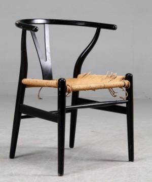 hans j wegner y stol model ch 24. Black Bedroom Furniture Sets. Home Design Ideas