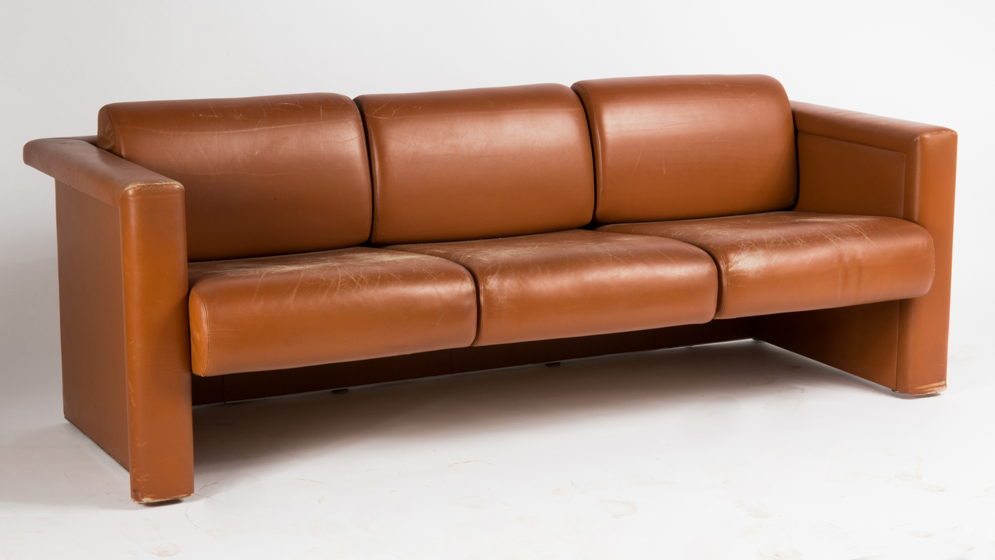 Knoll International, Sofa, Dreisitzer, Leder