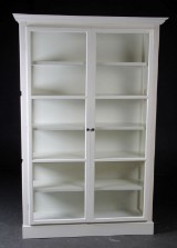 Display cabinet, French style, painted cream