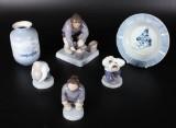 Kgl og B&G, samling grønlandske figurer m.m., porcelæn (6)