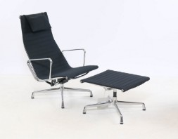 Charles Eames. Stol Alu Chair, model EA 115, with table