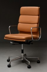 Charles Eames. Office chair with armrests, model EA-219 'Full Leather'