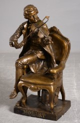Figur af bronceret gips