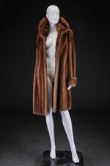 Mink coat, swing model, pastel, size 40-42, Saga Mink, Superb Quality