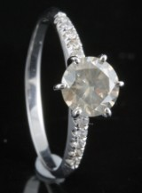 Diamond solitaire ring in 14kt approx. 1.11ct