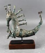 Naga Mosarang. Skulptur i bronze fra Sumatra i form af fabeldyr, 2000-tallet