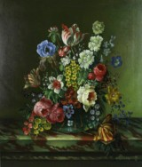 Wenzel Adam Rudorfer, olie på lærred, blomsterstilleben
