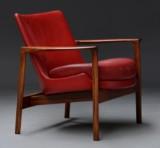 Attributed to Ib Kofod-Larsen for Christensen & Larsen. Lounge chair, Brazilian rosewood