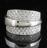 Diamond ring in 18kt. white gold 0.82ct.
