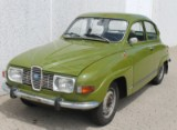 SAAB 96 V4 sedan year 1973, Veronica Green. Veteran