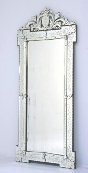 facetslebet spejl Venetiansk facetslebet spejl ca. år 1900   Lauritz.com facetslebet spejl