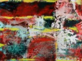 Peter Nyborg. 'Raven a wing', olie på lærred, 2011