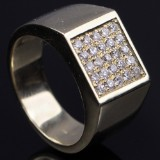Men's diamond ring, approx. 0.50 ct
