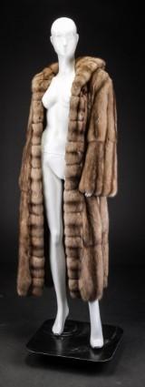 Russian sable fur with hood, size 38 / 40, Zibellino