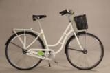 ECO2. Hvid unisex cykel. Model 'Retro'