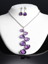 Hartmanns. Amethyst and diamond jewellery set, 18 kt. white gold (3)