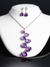 Hartmanns. Amethyst and diamond jewellery set, 18 kt. white gold (3)