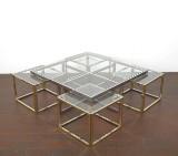 Stort sofabord/coffee table med fire sideborde, formentlig Maison Charles (5)
