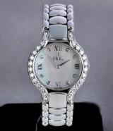 Ebel 'Beluga' ladies' watch, steel, mother-of-pearl dial, diamonds, 2000's