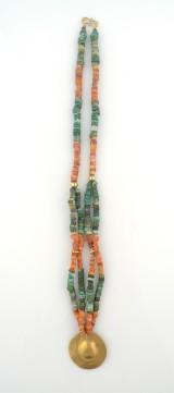 Halskedja med hänge Moche 500 - 1000 e Kr
