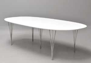 piet hein bord Piet Hein & Bruno Mathsson. Super Ellipse table, 240 x 120 cm, new  piet hein bord