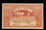 Danmark 500kr. 1945 d  Sieg:127 KV:01.