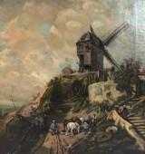 Charles Hoguet, olie på lærred, 'Mühle'