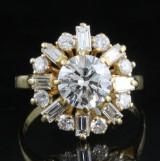 18kt. diamond ring approx. 2.50ct.