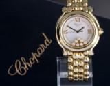 Chopard 'Happy Sport'. MIdsize dameur i 18 kt. guld og brillanter, 2000'erne