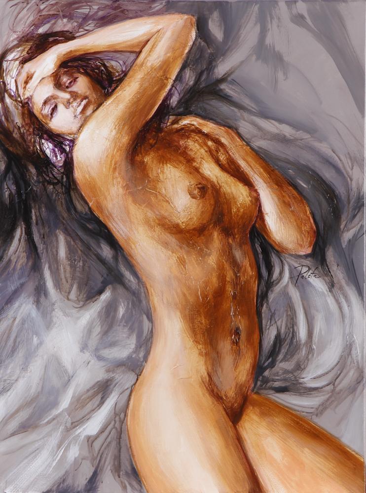 nøgen kvinde maleri