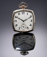 Rolex. Art Deco men's pocket watch in 9 kt. gold with bright dial, c. 1925