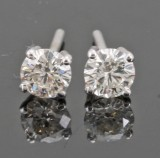 Earrings in 14k set with brilliant cut diamonds 0.57 ct