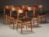Dansk møbelproducent, spisestole, 1960'erne  (6)